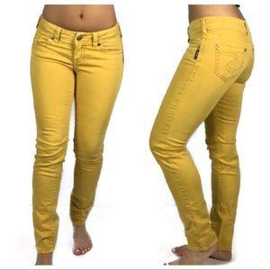 Silver Jeans Suki Skinny In Mustard